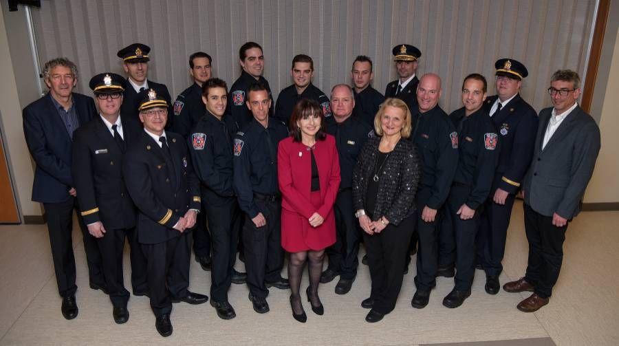 Reconnaissance pour 12 pompiers du Service de sécurité incendie de Saint-Philippe/Saint-Mathieu