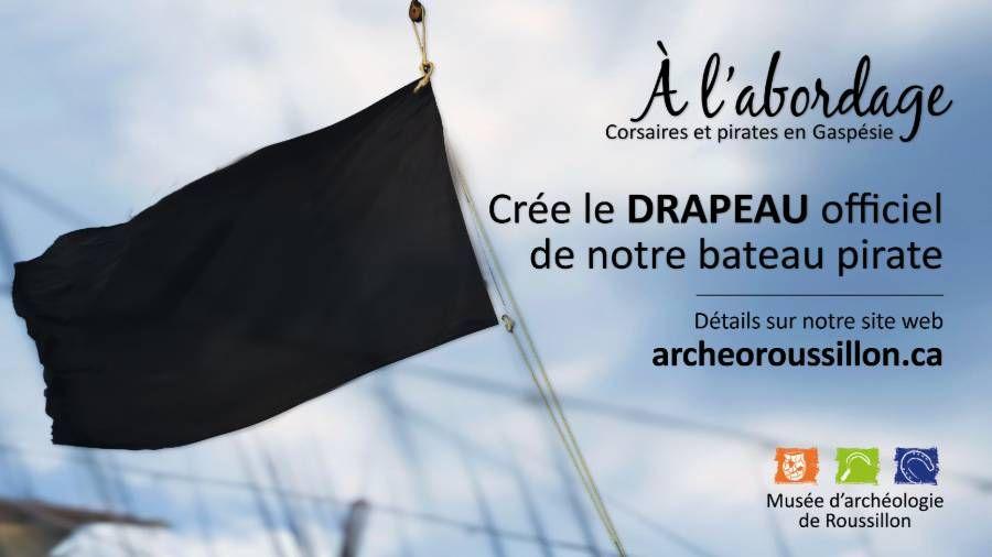 Création du drapeau officiel du bateau pirate