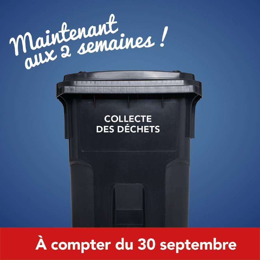 Collecte des déchets – horaire modifié