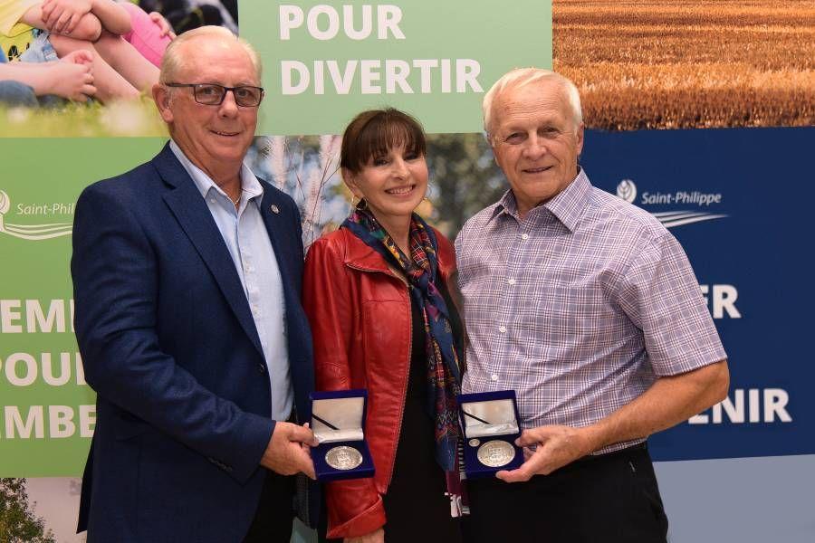 Des honneurs pour deux citoyens de Saint-Philippe